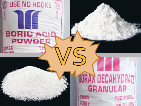 Boric acid versus borax, what is the difference?
