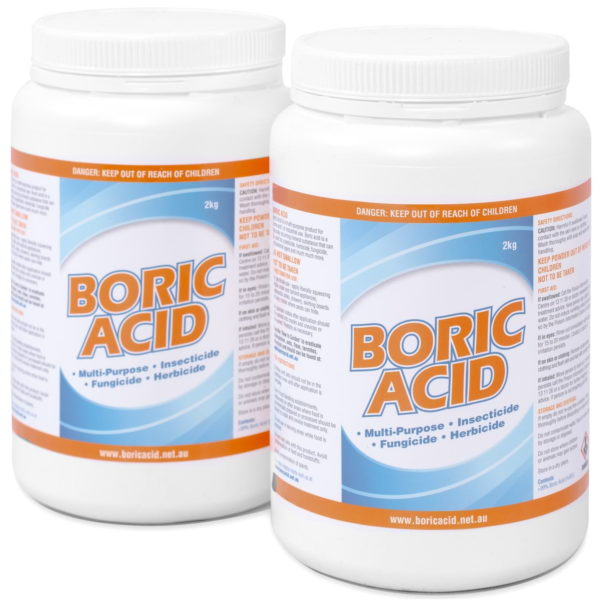 2 x 2kg jars of boric acid, which is the 4kg boric acid product